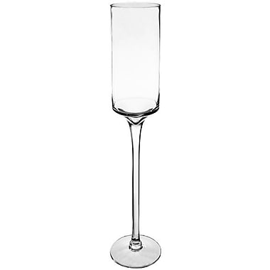 CYSExcel Contemporary Stemmed Glass Hurricane (Set of 6); 24'' H