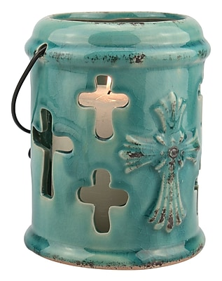 CKK Home D cor, LP Accents of Faith Ceramic Hanging Lantern