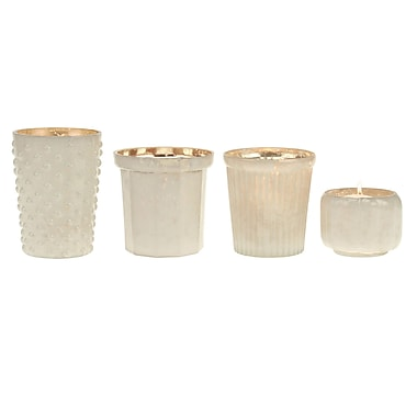 CKK Home D cor, LP Stonebriar 4 Piece Glass Votive Set