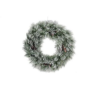 AdmiredbyNature 60 Tips Christmas Pine Wreath w/ Frosted Snow