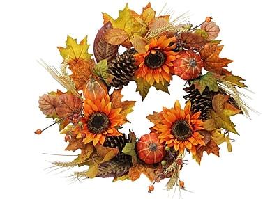 AdmiredbyNature 24'' Harvest Display Wreath WYF078280041935