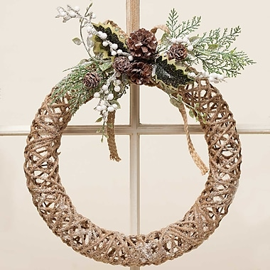 ZiaBella 12'' Glitter Chic Twine Wreath