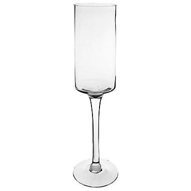 CYSExcel Glass Hurricane (Set of 4); 20'' H x 5'' W x 5'' D