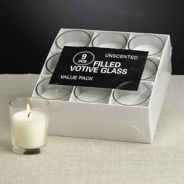 Biedermann and Sons Glass Votive (Set of 9)