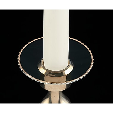Biedermann and Sons Fluted Bobeche Candle Holder (Set of 2); Gold Rim