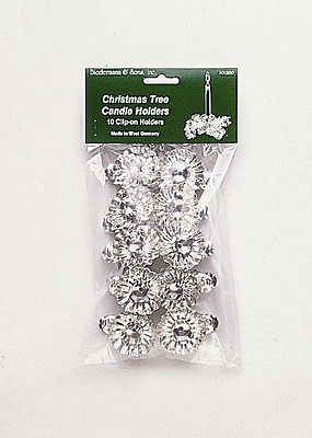 Biedermann and Sons Clip On Candle Holders (Set of 10); Silver