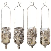EsschertDesign 4 Piece Metal Hanging Lantern Set