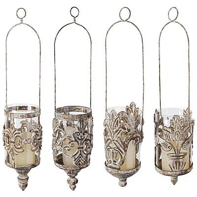 EsschertDesign 4 Piece Metal Hanging Lantern Set