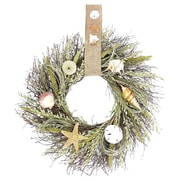 Dried Flowers and Wreaths LLC Sea Grass and Shells 22'' Wreath