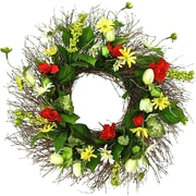 Dried Flowers and Wreaths LLC Romantic Garden 22'' Wreath