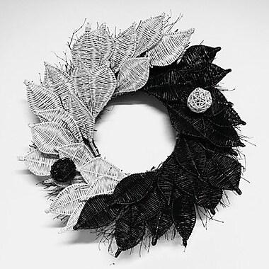 Dried Flowers and Wreaths LLC Yin-Yang 22'' Wreath