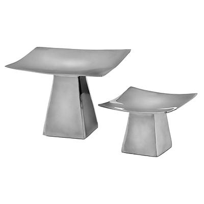 Modern Day Accents 2 Piece Aluminum Dish Set