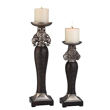 OK Lighting Sobek 2 Piece Candlestick Set