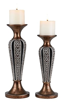 OK Lighting Everly 2 Piece Polyresin Candlestick Set