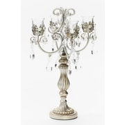 Opulent Treasures Vines Four Taper Metal Chandelier Candelabra; Silver
