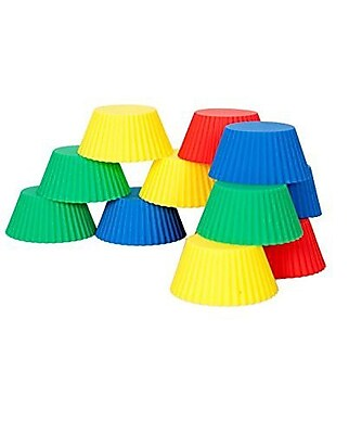 Elbee Home Non-Stick Silicone Muffin Cup (Set of 12) WYF078280040448