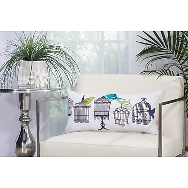 Nourison Bird Cages Outdoor Throw Pillow; 12'' H x 24'' W