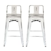 Ace Casual Furniture 31'' Bar Stool (Set of 2); White