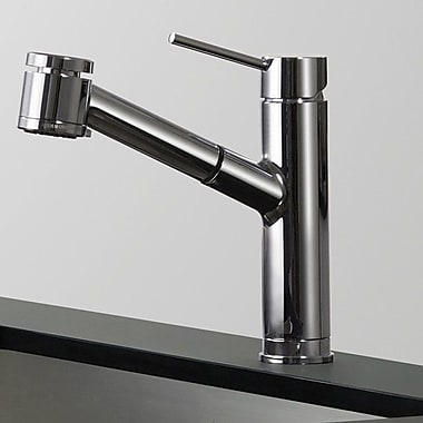 Kraus Oletto Single Handle Pull Down Kitchen Faucet; Chrome