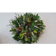 From the Garden 18'' Echinops Wreath