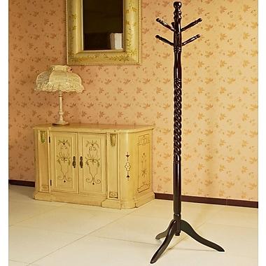 Mega Home Swivel Coat Rack Stand w/ Twist; Cherry