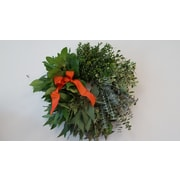 From the Garden 18'' Fall Greenery Cluster Wreath