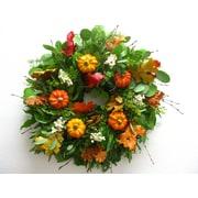 From the Garden 18'' Faux Pumpkin Wreath