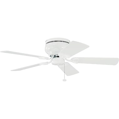 Charlton Home Cerro 42'' 5 Blade Fan; White with White Blades