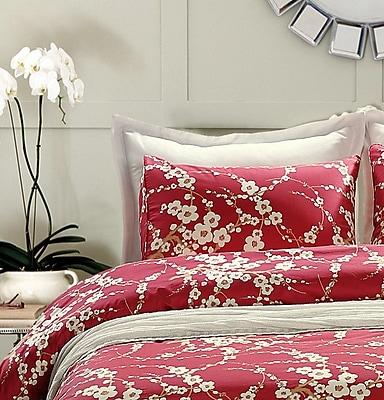 Sweety Pie Inc Japanese Oriental Floral Duvet Cover Set; King