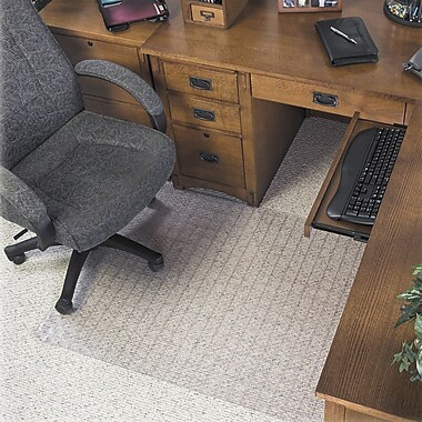 Deflecto Supermat Checkered Low Pile Carpet Beveled Edge Chair Mat