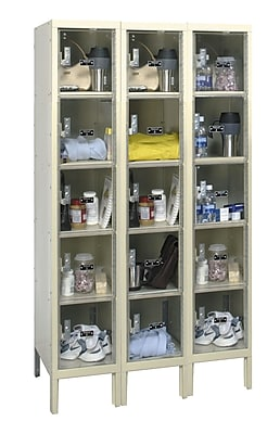 Hallowell Safety-View 5 Tier 3 Wide Safety Locker; 36''W x 12''D x 66''H