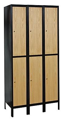 Hallowell Hybrid 2 Tier 3 Wide Storage Locker; 36''W x 18''D x 78''H