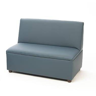 Brand New World Enviro-Child Modern Casual Upholstery Kids Sofa; Blue