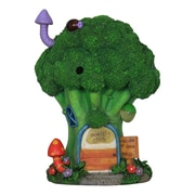 Exhart Solar Broccoli House Fairy Garden