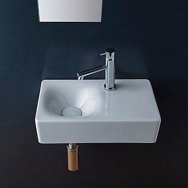 Scarabeo by Nameeks Cube Rectangular 16.5'' Wall Mounted Bathroom Sink
