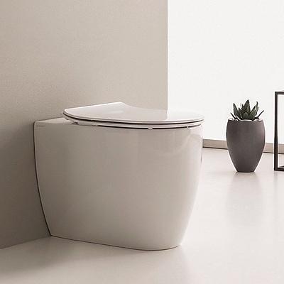 Scarabeo by Nameeks Moon 1.3 GPF Elongated Toilet Bowl