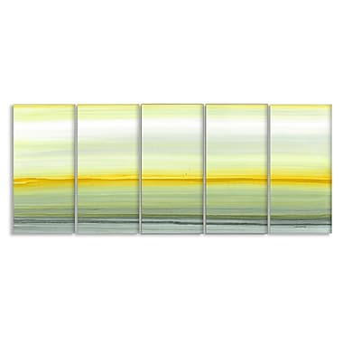 Stupell Industries 'Amber Horizons' 5 Piece Painting Print on Canvas Set