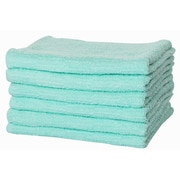 Puffy Towels Turkish Cotton Hand Towel (Set of 6); Mint
