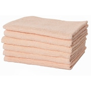 Puffy Towels Turkish Cotton Hand Towel (Set of 6); Salmon