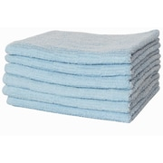 Puffy Towels Turkish Cotton Hand Towel (Set of 6); Blue