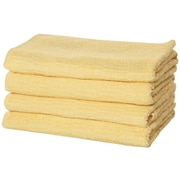Puffy Towels Turkish Cotton Bath Towel (Set of 4); Yellow