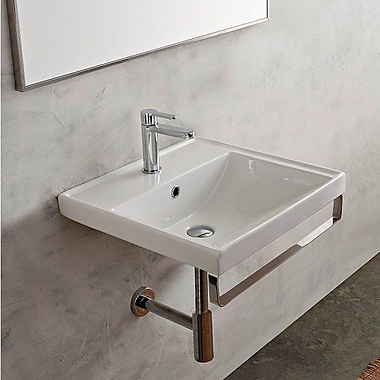 Scarabeo by Nameeks ML Rectanguar 23.6'' Bathroom Sink w/ Overflow; No Hole