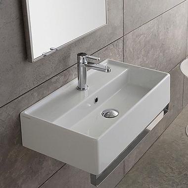Scarabeo by Nameeks Teorema 23.6'' Wall Mount Bathroom Sink w/ Overflow; Single