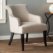 Charlton Home Limewood Hill Arm Chair; Light Beige