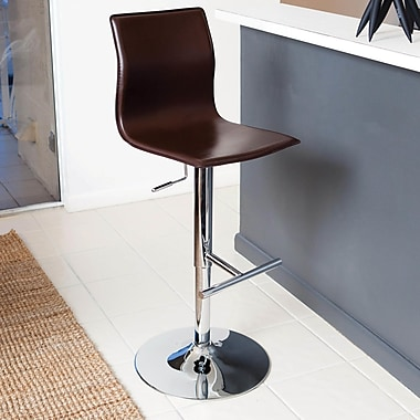 Matrix Adjustable Height Swivel Bar Stool; Brown