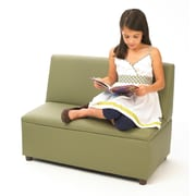 Brand New World Enviro-Child Modern Casual Upholstery Kids Sofa; Sage