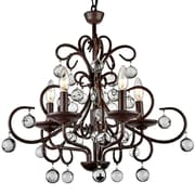 JoJoSpring Wrought Iron 5-Light LED Mini Chandelier