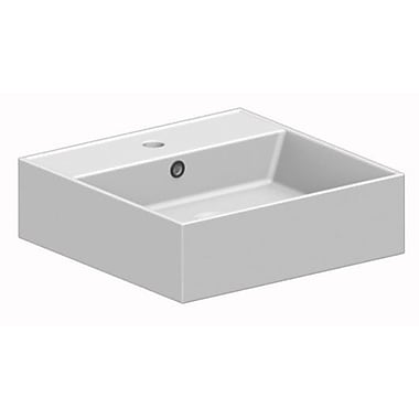 Scarabeo by Nameeks Teorema 31.5'' Console Bathroom Sink w/ Overflow; 8'' Centers