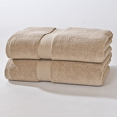 Darby Home Co Bloomberg Bath Sheet (Set of 2); Latte