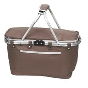 Preferred Nation Collapsible Picnic Cooler; Brown